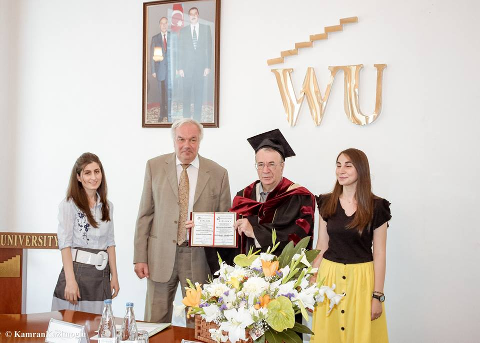 World famous scientist became  honorary professor of Western University