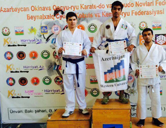 Western University student won the Republican championship on  Goju-Ryu Karate !
