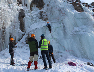 X outdoor Championship on the ice climbing on frozen waterfalls of the Lazha village of Gusar region has ended