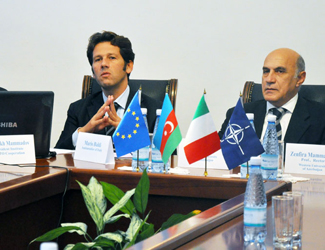 The meeting with the ambassador of Italy